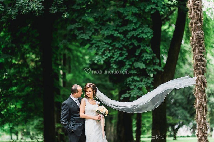 Gli sposi felici di Villa Iachia