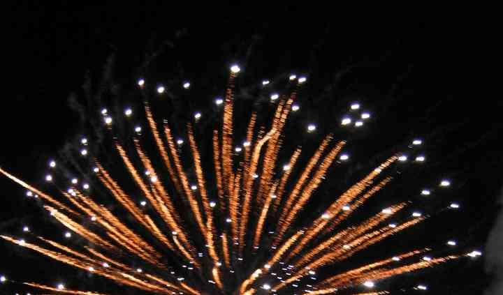 Spettacolari fuochi d'artificio