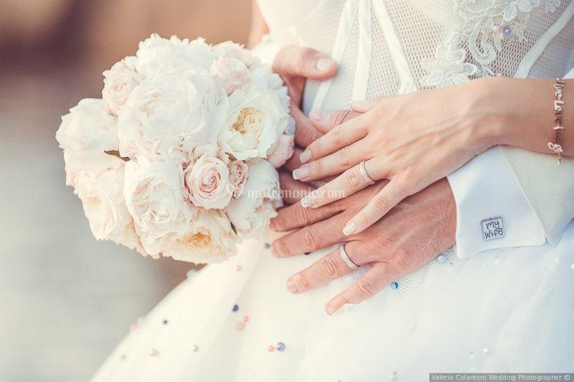 Bouquet rose inglesi e peonie