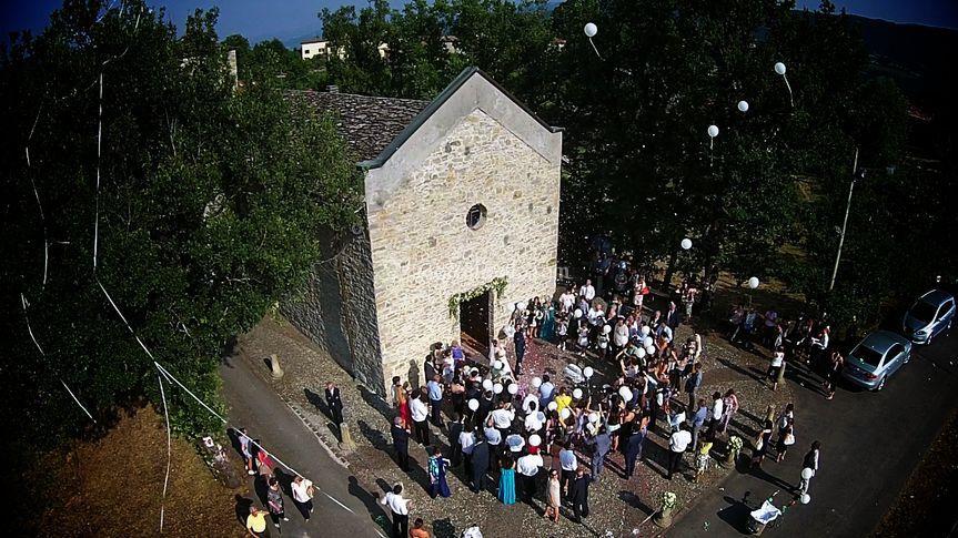 Drone nelle colline di Parma