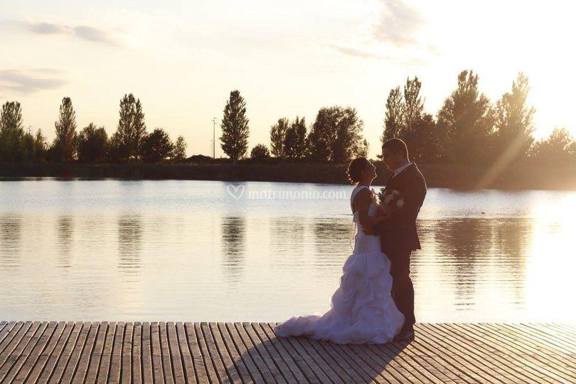Sposi sul pontile