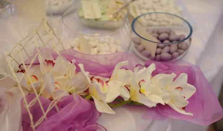 Allestimento tavola a casa della sposa