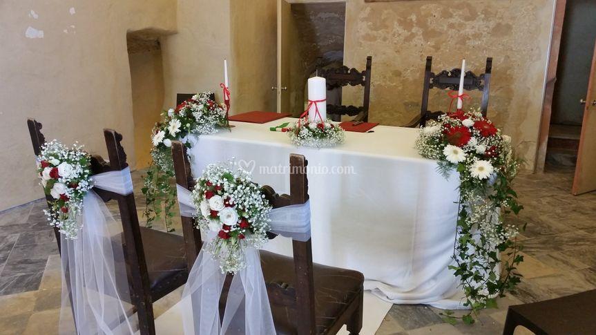 Il tavolo della cerimonia