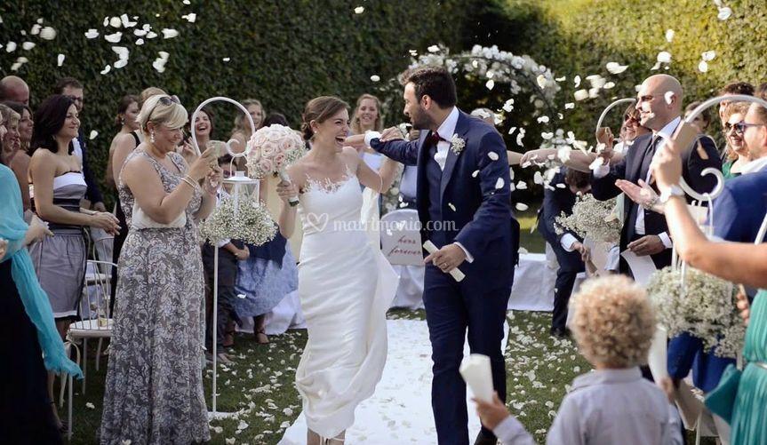 Sposi felici matrimonio 2016