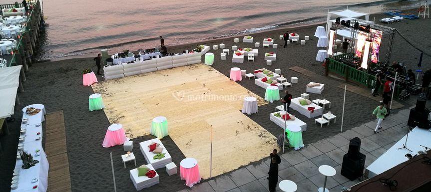 Pedana ballo spiaggia