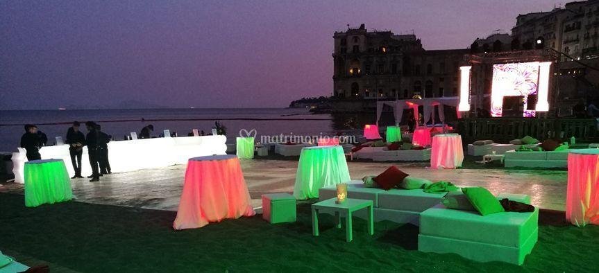 Evento spiaggia sera