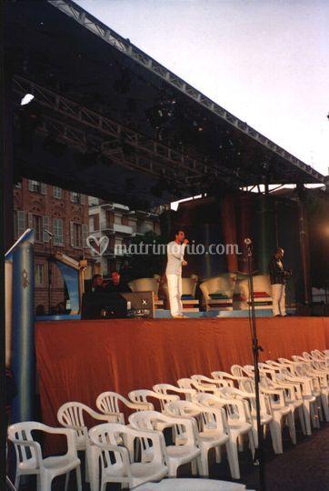 Sul palco di Rai 1 (prove audio)