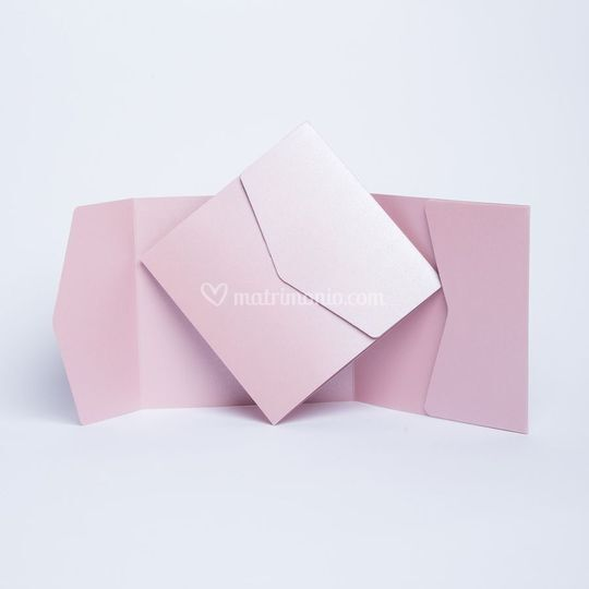 Invito Pocket in rosa antico