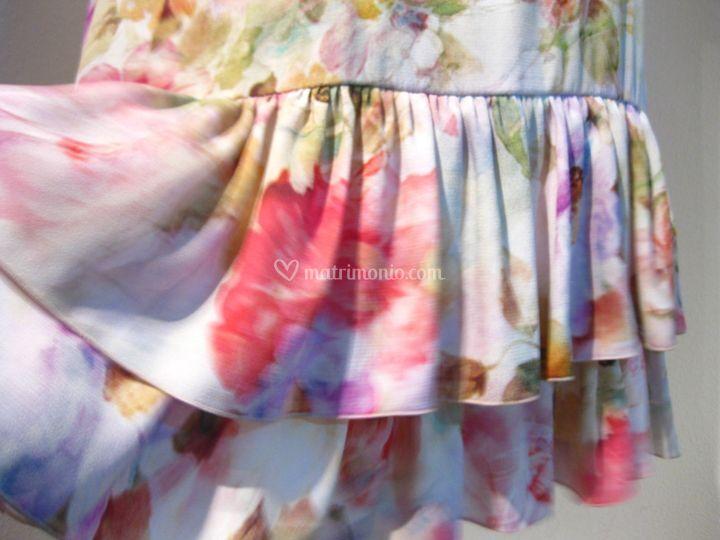 Viscosa crepe mini dress