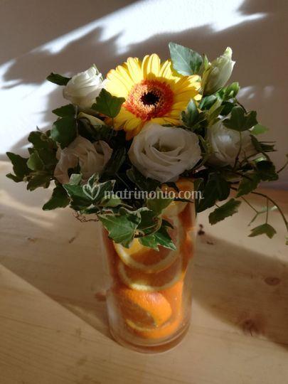 Centrotavola fiori e frutta