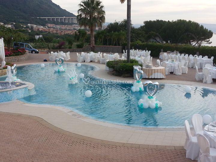 Sisters 39 line for Addobbi piscina per matrimonio