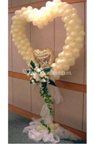 Colombi e palloncini - Decorazioni matrimonio palloncini ...