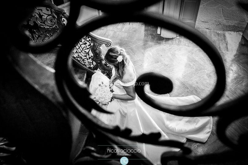 Sposa sulle scale