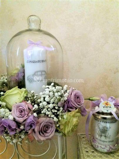 Wedding lilla e verde