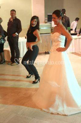 Pamela con la sposa