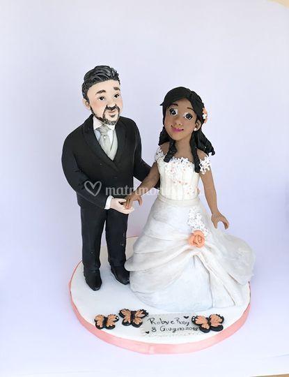Cake topper in fimo