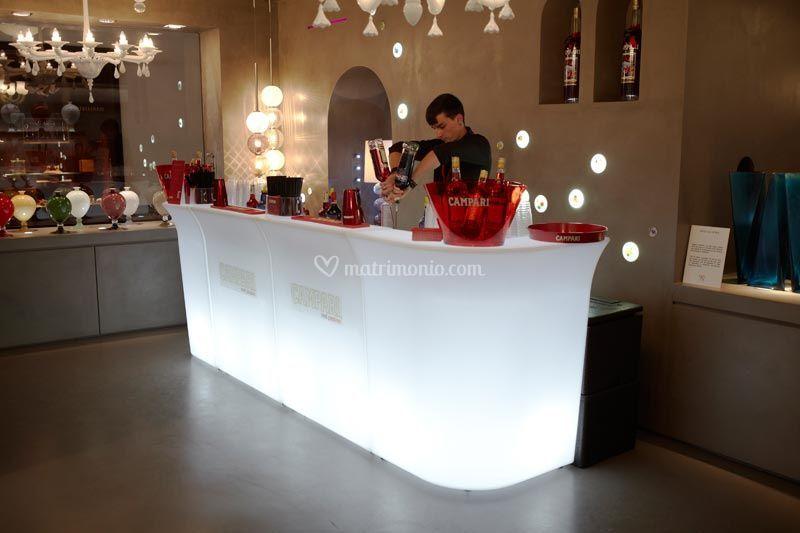 Banco Bar Luminoso