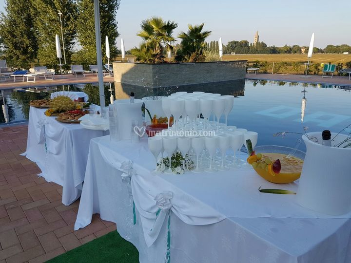 Buffet piscina