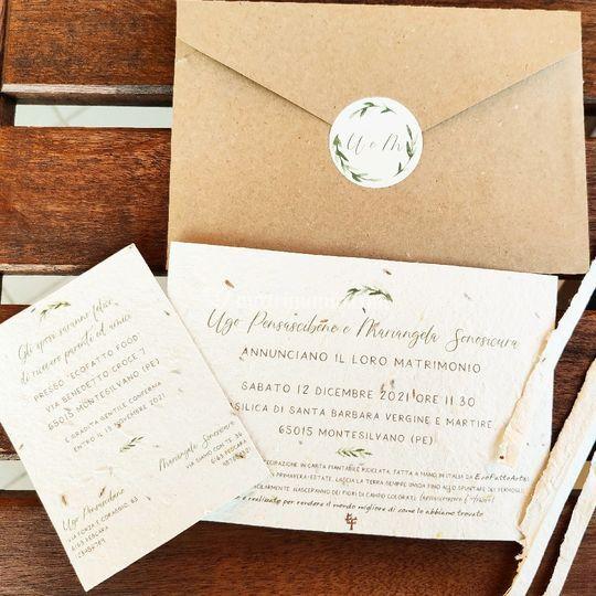 Inviti carta piantanbile