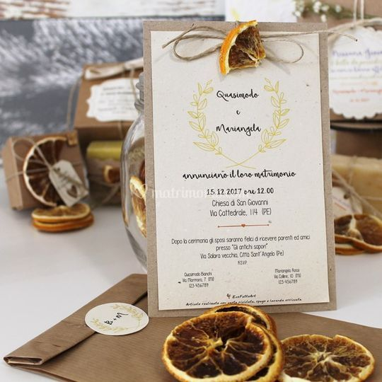 Invito con arancia essiccata