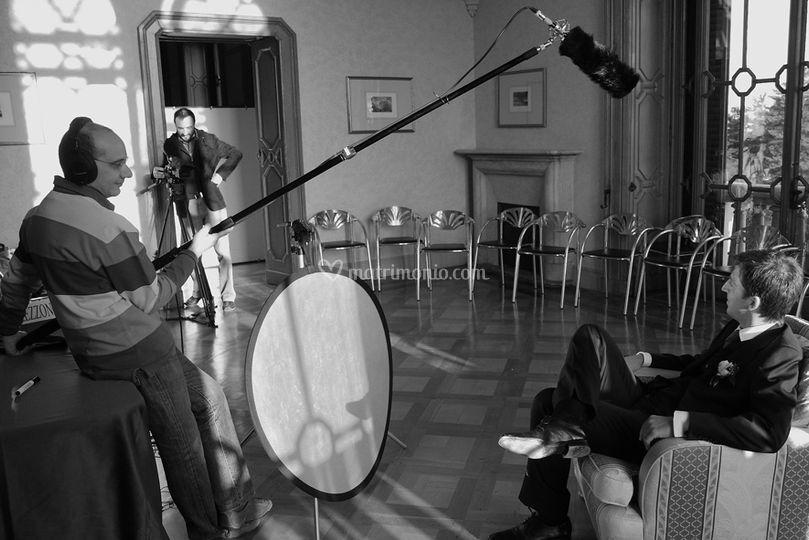Set intervista a Villa Ponti