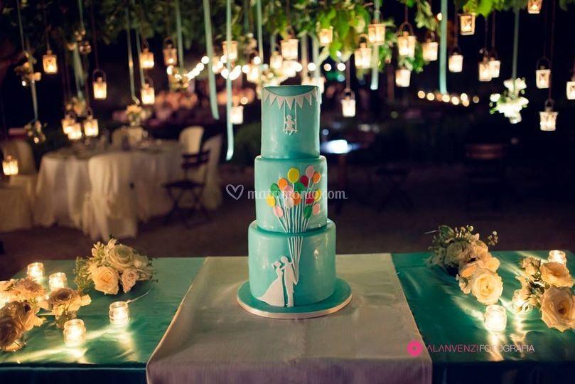 Wedding cake con atmosfera