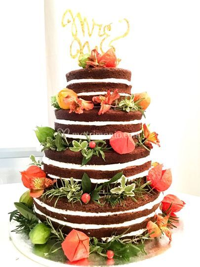Naked Wedding Cake autunnale