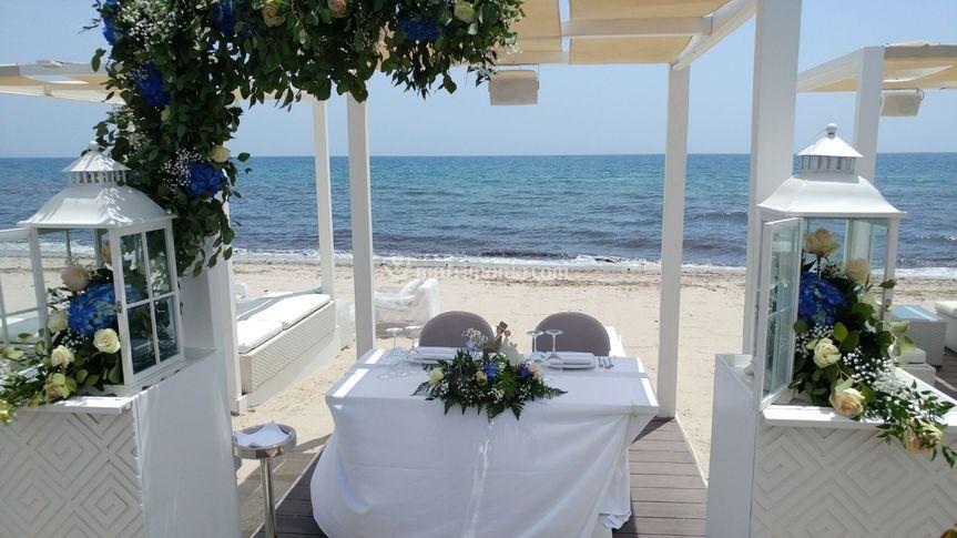Allestimento matrimonio al mar