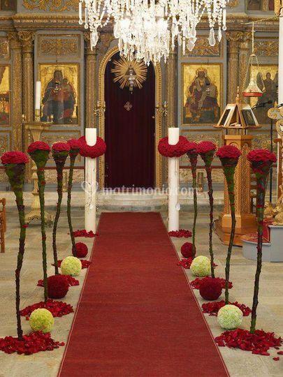 Allestimento chiesa ortodossa