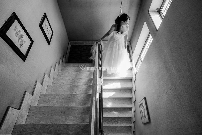 La sposa sulle scale