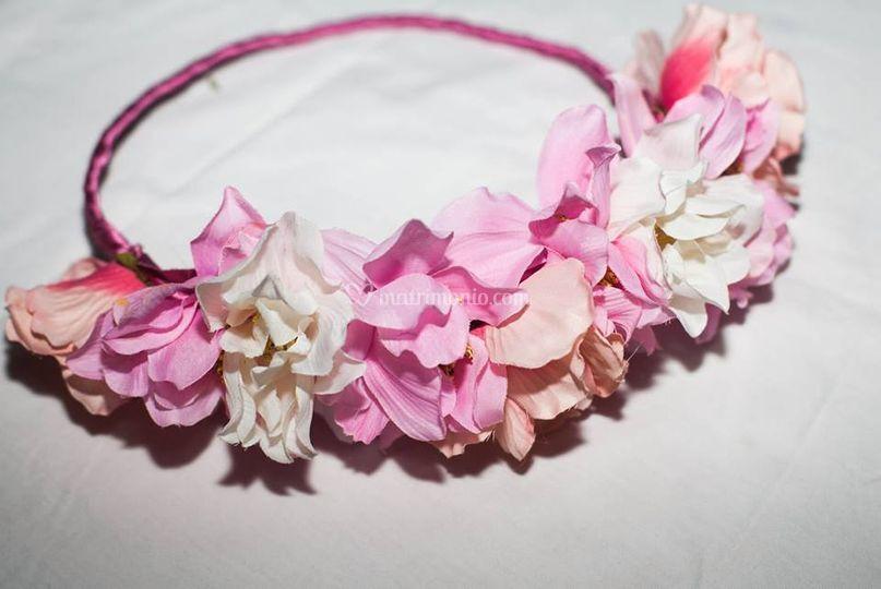 Modello: Lana, fiori grandi