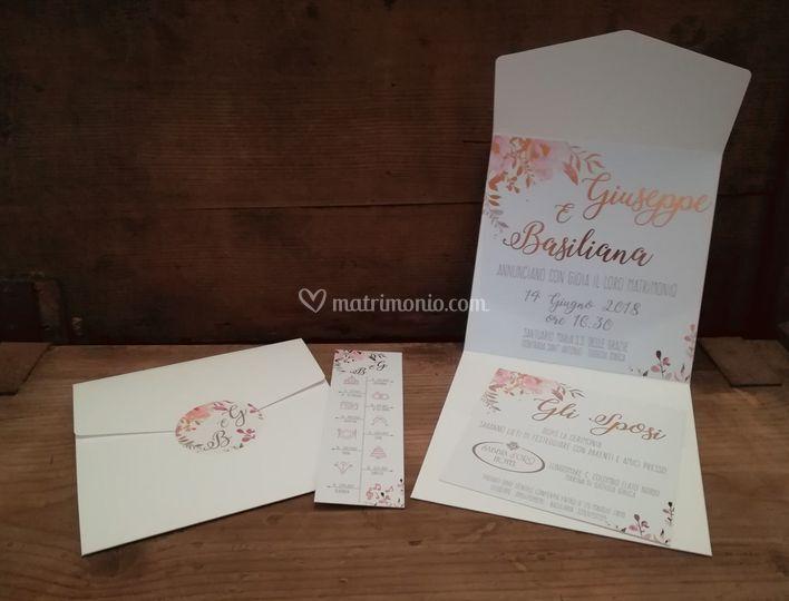 Partecipazioni Matrimonio Genova.Simona Coggiola Grafica