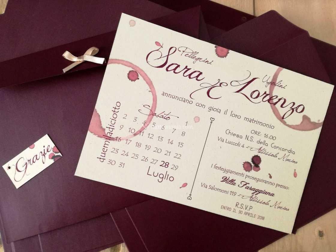 Partecipazioni Matrimonio Tema Vino.Tema Vino Di Simona Coggiola Grafica Foto 14