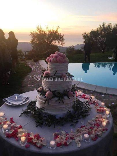 La torta al tramonto