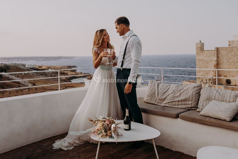 Matrimonio intimo a Polignano