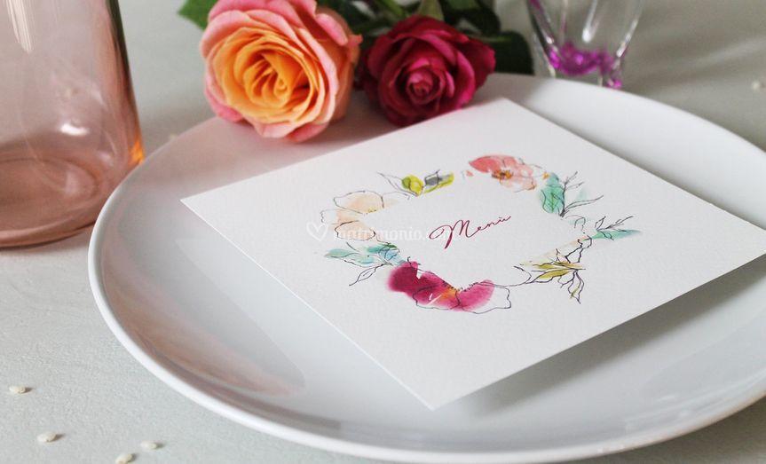 Romantic Flower menù