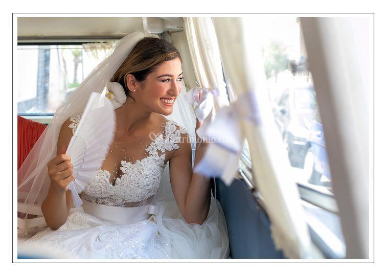 Sposa in macchina