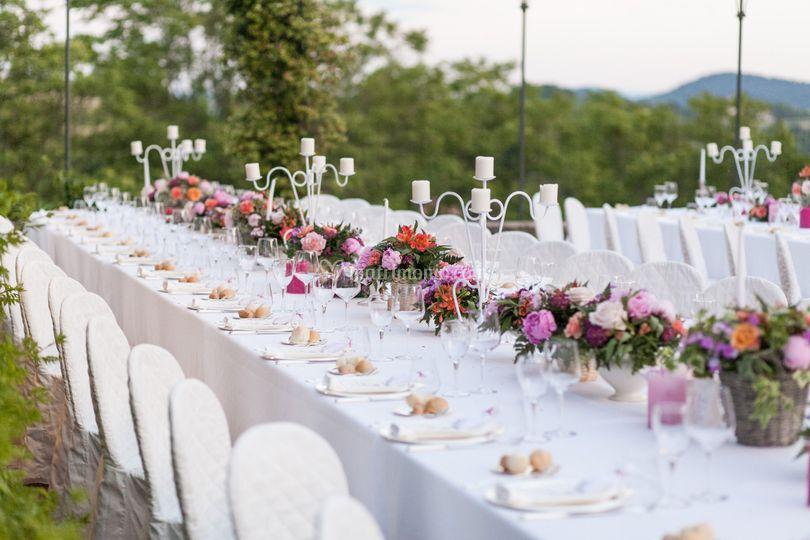 Particolare tavolo imperiale