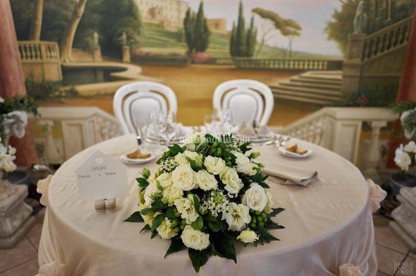 Tavolo degli sposi interno