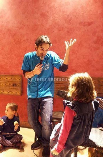 Claudio e la magia del teatro
