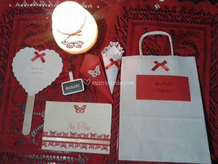 Set completo con wedding bag
