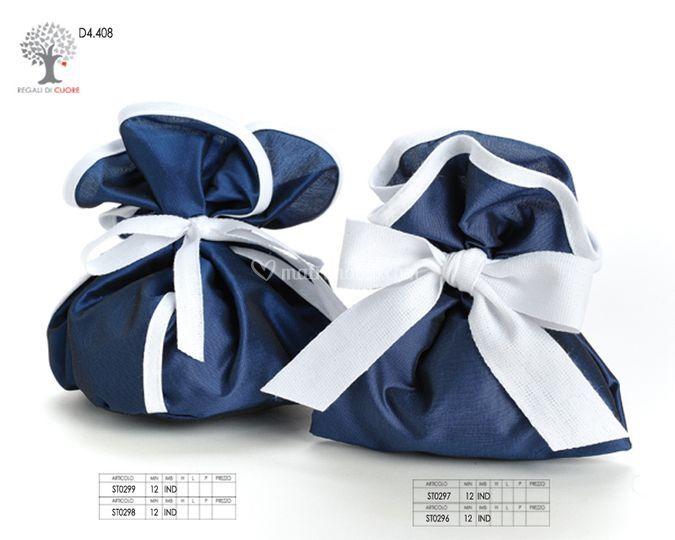 Sacchetti bianco e blu
