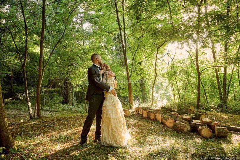 Gli sposi e il bosco
