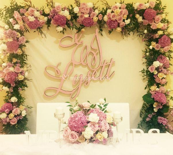 Arco Floreale Matrimonio L+E