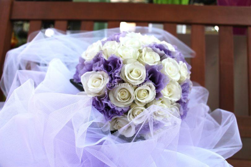 Bianco e lilla bouquet
