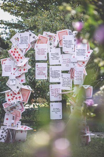 Tableau de mariage carte gioco