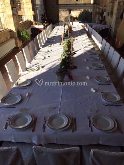 Tavolo imperiale con festone