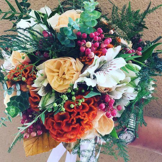 Bouquet sposa con celosia
