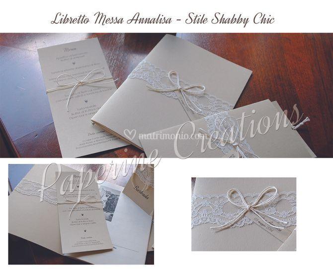 Libretto Messa Matrimonio Country Chic : Paperine creations