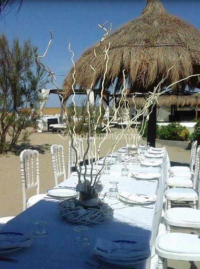 Matrimonio In Spiaggia Total White : Simona eventi floral design